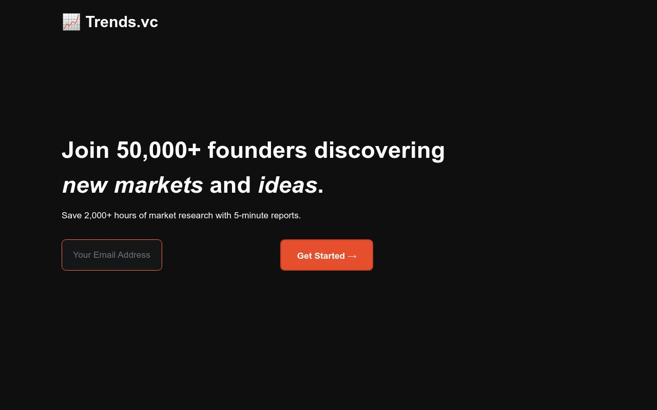 Trends.vc - Discover new markets and ideas
